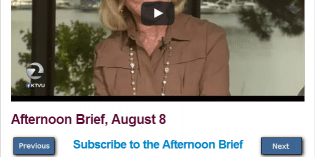 Afternoon Brief, August 8
