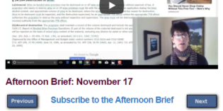 Afternoon Brief: November 17