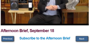 Afternoon Brief, September 18