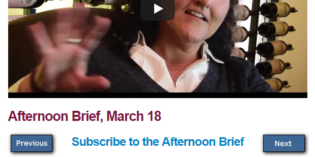 Afternoon Brief, March 18