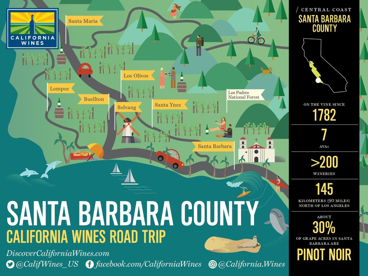 SantaBarbaraWineRegionMap Wine Industry Advisor Wine - Santa barbara on us map
