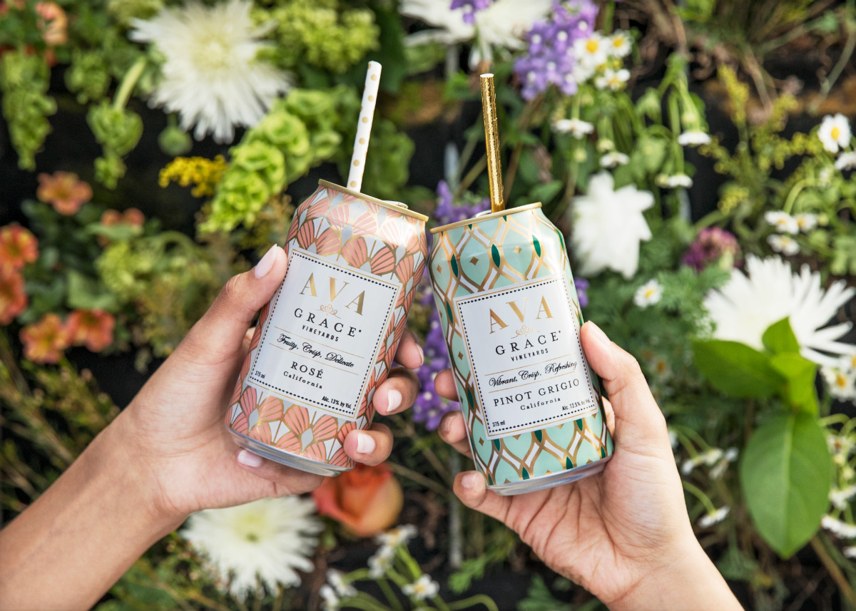 Ava Grace Vineyards Launches Rose And Pinot Grigio In Cans So